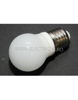 Bec Led E27 3w Sferic Ceramic Lumina Calda Klass