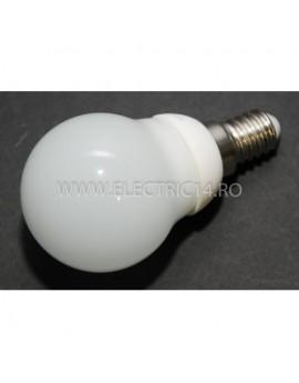 Bec led E14 3w Sferic Ceramic Lumina Calda Klass