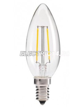 Bec Led E14 2w Lumanare Filament Lumina Calda Total Green