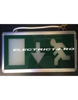 Lampa Exit Acumulator 2 Fete Sageata Jos TG