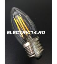 Bec Led E27 4w Lumanare Filament Lumina Calda