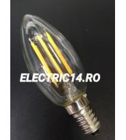 Bec Led E14 6w Lumanare Filament Lumina Calda