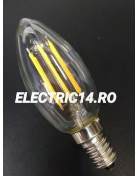 Bec Led E14 4w Lumanare Filament Lumina Intermediara