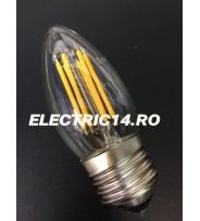 Bec Led E27 6w Lumanare Filament Lumina Calda