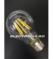 Bec Led E27 8w Clasic Filament Lumina Calda