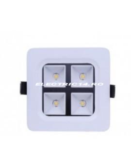Spot led 4w Patrat Lumina Calda SPOTURI LED