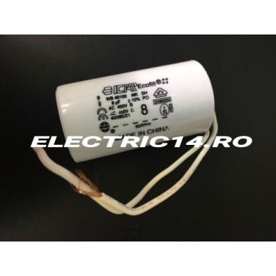 Condensator cu fir 8 mf