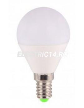 Bec led E14 6w Sferic  Lumina Rece Total Green