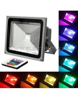 Proiector Led 50w RGB  cu telecomanda