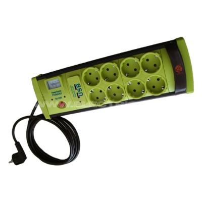 PRELUNGITOR CU PROTECTIE LA SUPRATENSIUNE + USB 8 POST 3M (3X1)