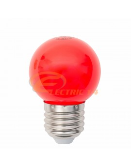 BEC LED E27 3W SFERIC P45 ROSU