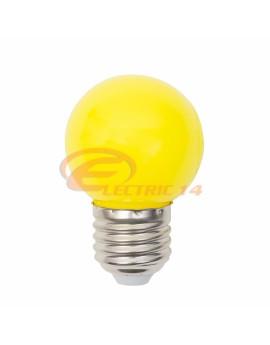 BEC LED E27 3W SFERIC P45 GALBEN