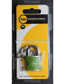 Lacat Aluminiu YE3-25-112-1 Verde