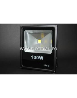 Proiector Led 100w Slim Lumina Calda