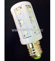 Bec led E27 5w 12V lumina rece