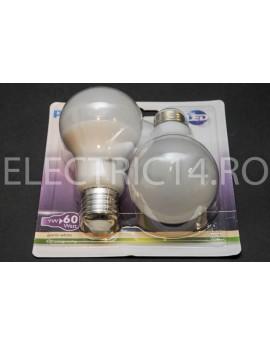 Bec Led E27 9w A60  Lumina Calda  Philips Set 2 Bucati