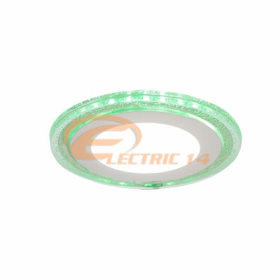 SPOT LED 6W+3W SLIM LUMINA RECE+VERDE ROTUND