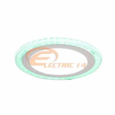 SPOT LED 12W+4W SLIM LUMINA RECE+VERDE ROTUND