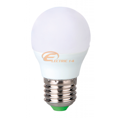 Bec led E27 6w Sferic Lumina Rece Total Green