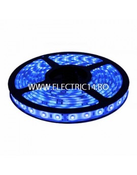Banda led 3528 12V (4.8W-M) interior  rola 5 m Blue