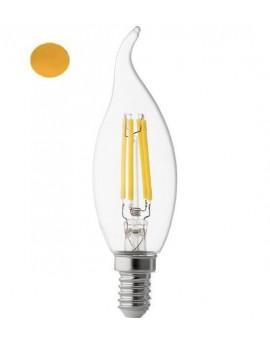 Bec Led E14 4w Flacara Filament Lumina Calda