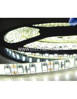 Banda led 3528 12V (4.8W-M) exterior silicon rola 5 m Lumina rece