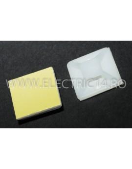 Suport Adeziv Pentru Colier 20X20mm 100 buc / set CLEME - COLIERE - DIBLURI
