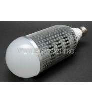 Bec Led E27 18W Radiator Aluminiu Lumina Rece