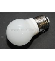 Bec Led E27 3w Sferic Ceramic  Lumina Rece Klass
