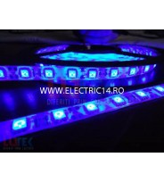 Banda led 3528 12V (4.8W-M)  exterior  silicon rola 5 m Blue