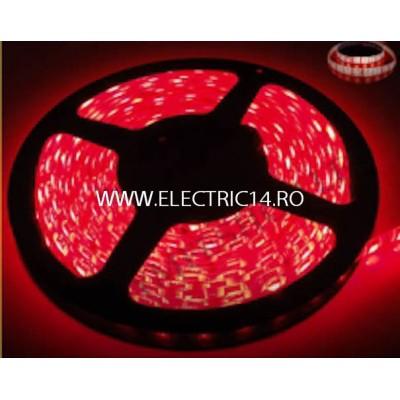 Banda led 3528 12V (4.8W-M) interior rola 5 m ROSU