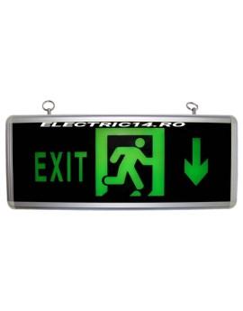 Lampa Exit Acumulator 1 Fata Sageata Jos