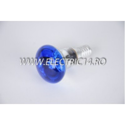 Bec Clasic E14 R39 Albastru set 10 bucati