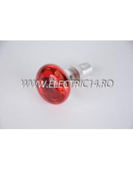 Bec Clasic E14 R39 rosu set 10 bucati