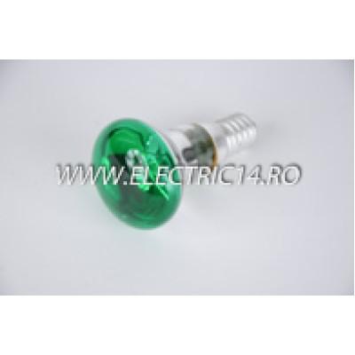 Bec Clasic E14 R39 Verde set 10 bucati