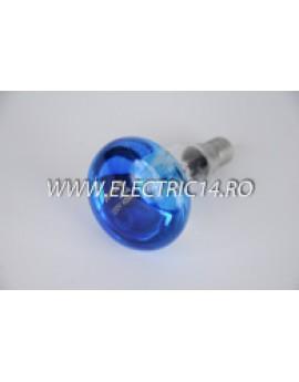 Bec Clasic E14 R50 Albastru set 10 bucati