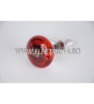 Bec Clasic E14 R50 Rosu set 10 bucati