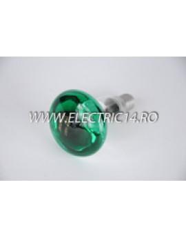 Bec Clasic E14 R50 Verde set 10 bucati