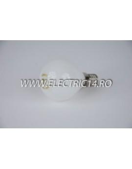 Bec Clasic E14 Sferic Opal 25W set 10 bucati