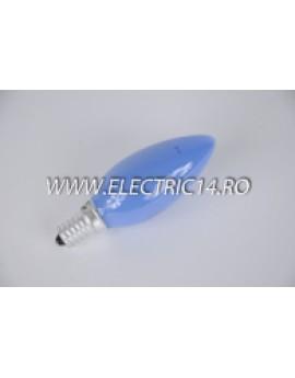 Bec Clasic Lumanare E14 25W Albastru set 10 bucati