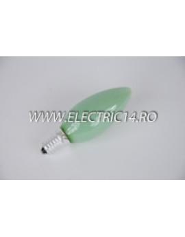 Bec Clasic Lumanare E14 25W Verde set 10 bucati