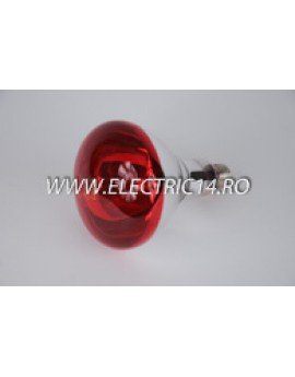 Bec Clasic E27 150W Infrared Rosu Philips