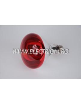 Bec Clasic E27 250W Infrared Rosu Philips