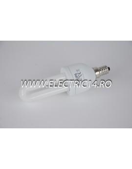 Bec economic E14 9w 2U lumina calda Philips