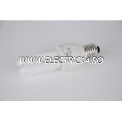 Bec economic E27 9w 2U lumina rece Philips