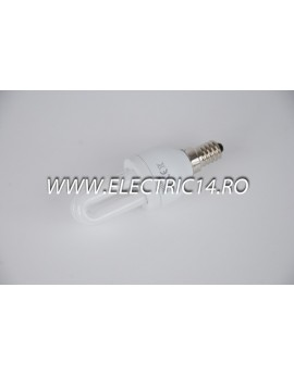 Bec economic E14 5w 2U genie lumina calda Philips
