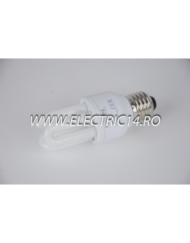 Bec economic E27 8w 3U  lumina calda Philips