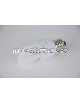 Bec economic E27 8w 3U  lumina rece Philips BECURI ECONOMICE