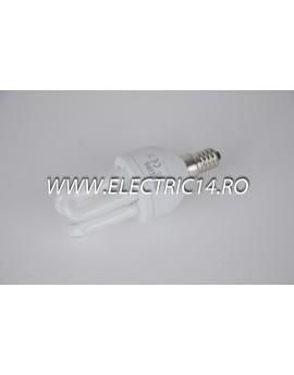 Bec economic E14 8w 3U genie  lumina calda Philips