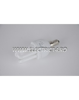 Bec economic E14 8w 3U genie  lumina rece Philips